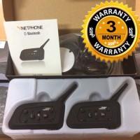 Bluetooth Intercom V6 (Double Pack) Vnetphone for Helmet