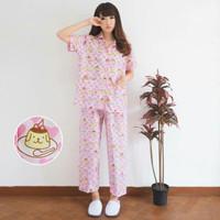 Jual Paling Laris st pudding pajamas  setelan wanita katun jepang pink Murah