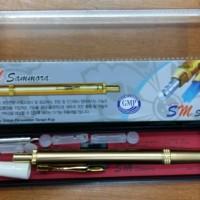 Lancing Device / Pen Bekam Stainless Gold Dus Hijau SM 228