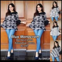 Jual Blus Monocrom,batik kerja, batik murah etnic,baju wanita modern Murah
