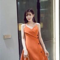 Jual Mini Dress Multi Button Fashion Import Murah