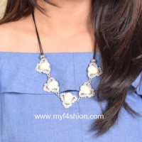 Jual statement necklace kalung fashion wanita aksen batu put Berkualitas Murah
