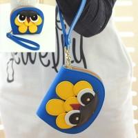 Jual HO4118E - Dompet Fashion Model Burung Hantu .Biru Tua. Murah