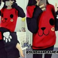 Jual Sweater Roundhand Panda Red Berkualitas Murah
