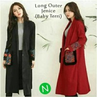 Jual long vest coat cardigan panjang long outer janice Murah