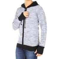 Jual Cardigan Hoodie Tudung Tangan Ariel Rajut Pria Misty Sweater Murah