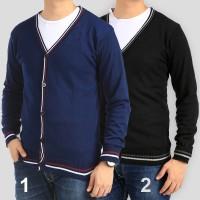 Jual sweater Cardigan Rajut Pria Motif List Sweater banyak pilihan warna Murah
