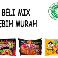 Jual Ready samyang Mix campur Cheese,hot chiken ramen, dan stew Murah