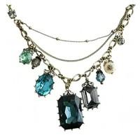 Jual Antique Vintage Retro Green Stone Necklace / Kalung Fashion Import Murah