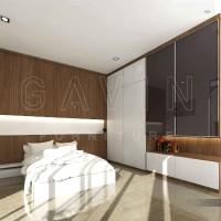 Jual Lemari swing 4 pintu - 3D design  Murah