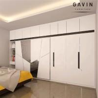 Jual Lemari sliding 2 pintu & swing 4 pintu - 3D design  Murah