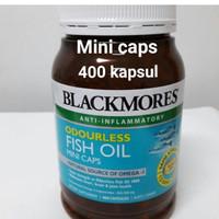 Jual obat herbal alami Blackmores Odourless Fish Oil Mini Caps 400caps Murah