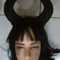 Jual halloween bando tanduk hitam ala maleficent Murah