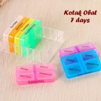 Jual BARANG TERPOPULER SAAT INI Kotak Obat 7 Days Terdiri dari 7 kotak utk Murah