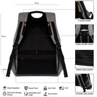 Jual Tas Ransel Laptop Anti Maling - Backpack Pria Wanita Daypack - 710024 Murah
