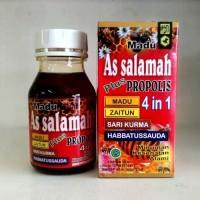 Jual Madu As Salamah Plus Propolis 4 in 1 Zaitun Sari Kurma Habbatussauda Murah
