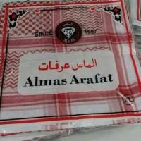 Jual MURAH SORBAN ASLI SAUDI Surban Imamah Arab Almas Arafat Shemagh Merah Murah