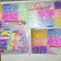 Jual PROMO MURAH ACCESORRIES CASE DIY RAINBOW LOOMBANDS 1 SET : MINI LOOM  Murah