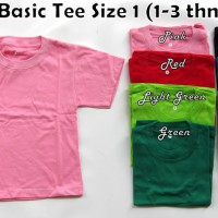 Jual Kaos Polos - Basic tee Anak bayi size 1 Murah