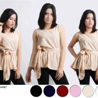 Jual Oma Fashion Aleysia Blouse Peplum Ikat Pinggang - 6 Warna - Size M Murah