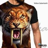 Jual Kaos 3D Yellow Sabretooth Murah