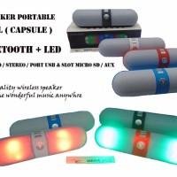 Jual Speaker Bluetooth Pill LED Port Usb Tf Card Fm Radio Murah