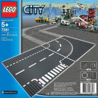 Jual Lego 7281 City - T-Junction & Curved Road Plates Murah