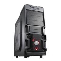 Jual Cooler Master K380 Window Midnight Black Red LED Mid Tower Case Murah