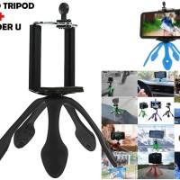 Jual Mini Tripod + Mount Portable Flexible Stand Warna Random Murah
