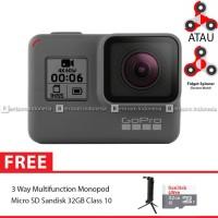 GoPro Hero6 / GoPro Hero 6 Black Combo 3 Way Supreme 32GB SpinIndo
