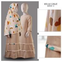 MTA267Coklat(4+-6tahun) gamis arab anak perempuan jersey kaos branded