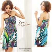Jual MINI DRESS BOHEMIA STYLE CORAK ETNIC IMPORT (2957) Murah