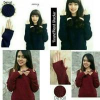 Jual round hand secker sweater rajut (atasan,bluse,top,sweat Murah Murah