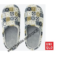 SANDAL RUMAH UNIQLO Room Shoes SPRZ NY EAMES 402358 light grey 02