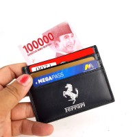 Jual Dompet kartu card holder import murah - FERRARI MS BLACK Murah