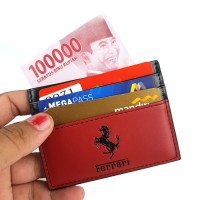 Jual Dompet kartu card holder import murah - FERRARI MS RED Murah