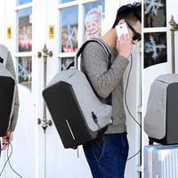 Jual Tas Anti Maling Tas Ransel USB port charger Tas laptop punggung pria Murah