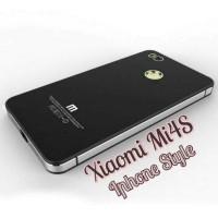 Back Case Alumunium Frame Tempered Glass Casing Hp Xiaomi Mi4S / Mi 4S