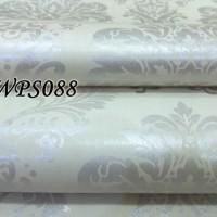 WPS088 CREAM N SILVER DECORE wallpaper-dinding walpaper stiker dinding
