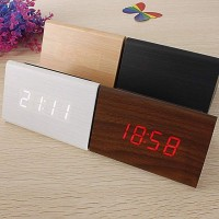 Jual TRIANGLE LED WOOD CLOCK Murah