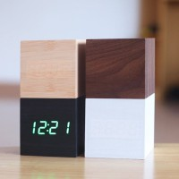 Jual SMALL LED WOOD CLOCK Murah