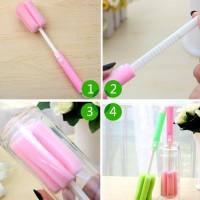 Jual Adjustable Sponge Brush 005 / Spons Sikat Botol Gelas Mug Termos Murah