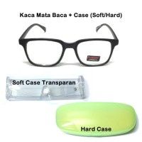 Paket Kaca Mata Baca Plus Tempat KacaMata SoftCase Hardcase Termurah