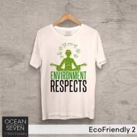 Kaos EcoFriendly 2 Environment Respect Yoga - T-Shirt Pecinta Alam