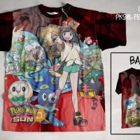 Jual Kaos Anime Japan Otaku Pokemon Sun & Moon Female Protagonist Murah