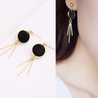 Jual Anting Korea Round PomPom earrings Murah