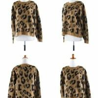 Jual S525 Atasan leopard wool murah import cina ko KODE YT525 Murah