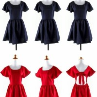 Jual S624 Dress pesta backless biru navy merah kat KODE YT624 Murah