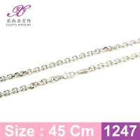 Kalung Rantai Lapis emas putih Perhiasan imitasi Yaxiya Jewelry 1247