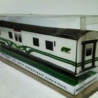 Papercraft Kereta Makan Argo Bromo Anggrek Go Green